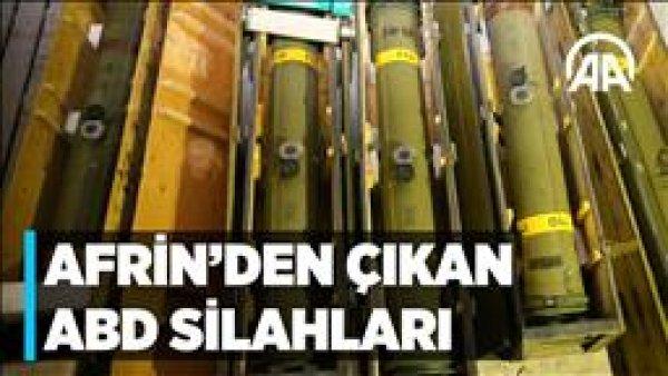 Terör örgütü YPG PKK ya verilen silahlar Afrin de ortaya çıktı