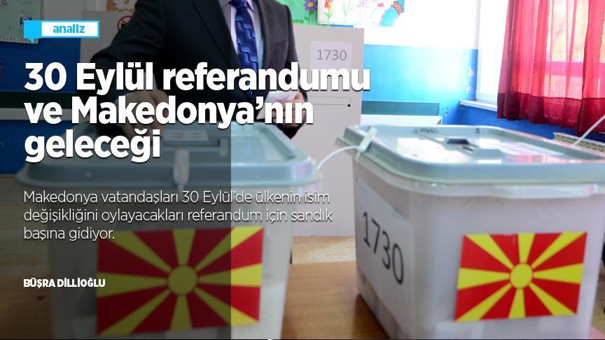 30 Eylül referandumu ve Makedonya nın geleceği