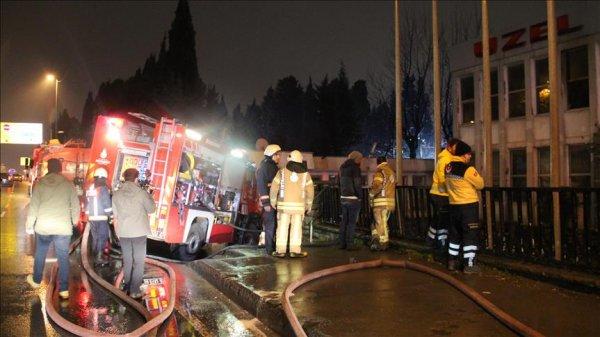 Traktör fabrikasında yangın