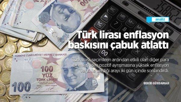 Türk lirası enflasyon baskısını çabuk atlattı