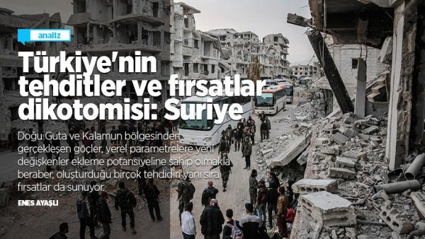 Türkiye nin tehditler ve fırsatlar dikotomisi: Suriye