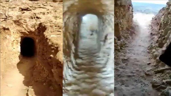 YPG PKK nın Suriye nin kuzeyindeki tünelleri görüntülendi