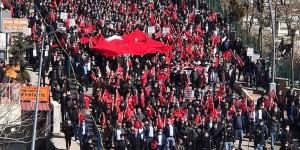 Şırnak ta Gara şehitleri için PKK ya tepki yürüyüşü düzenlendi